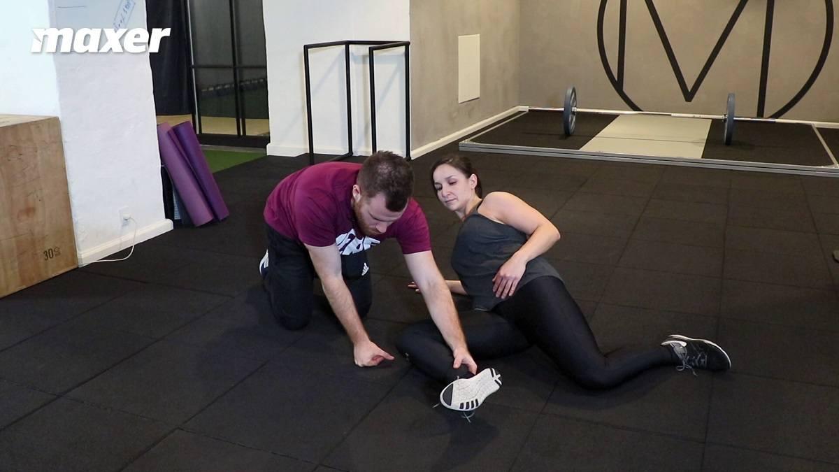 Hvis du løfter den forreste fod, så træner du din hoftes eksterne rotation.