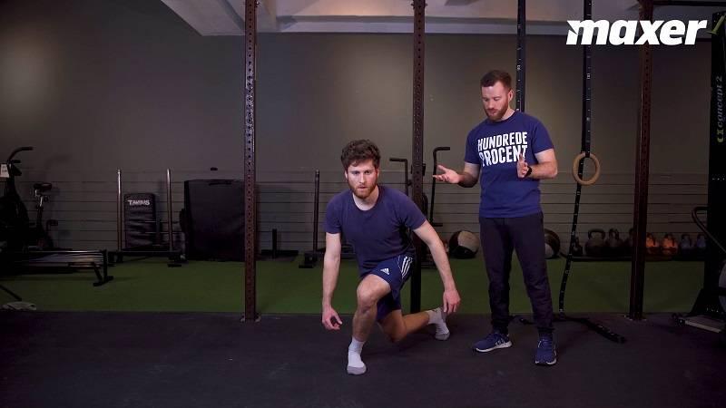I around the clock lunges kommer dine knæ og hofter i mange nye og udfordrende stillinger.