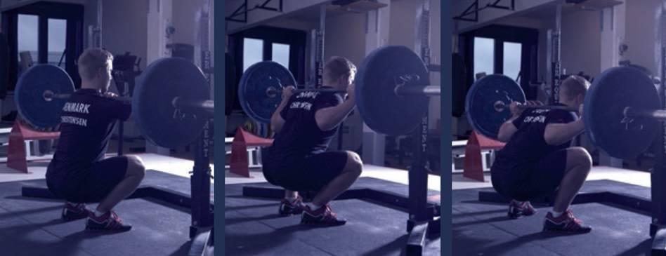 Teknik varierer både mellem personer, men også mellem øvelser for den samme person fx front squat, high bar squat og low bar squat.