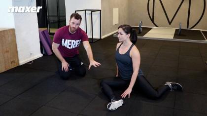 9090 hofterotation træner både din eksterne og interne rotation af hoften, så du får bedre hoftemobilitet.