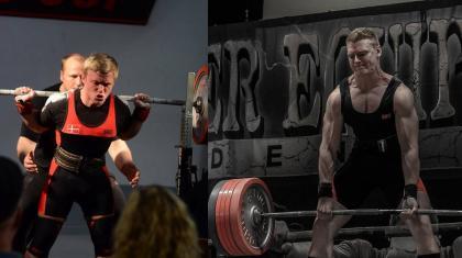 Matti Christensen og Joakim Jørgensen er begge på landsholdet i styrkeløft (squat, bænkpres og dødløft).