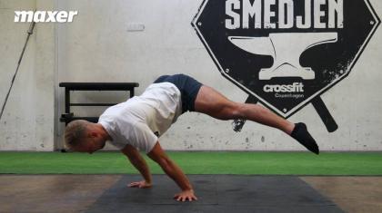 Planche fra gymnastikkens verden kræver stor styrke og balance at udføre.