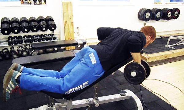 Chest supported rows