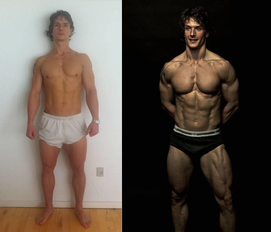 Med mindre væske i kroppen vil dine muskler se flottere ud.